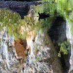 2017 sierra de guara kromme brug spiegeling rots
