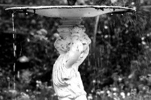 werk 2018 augustus, fontein